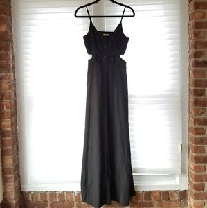 Pins and Needles Button-Front Caged Maxi Dress